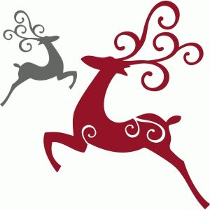 300x300 Flying Elegant Reindeer Silhouette Design, Silhouettes And Elegant