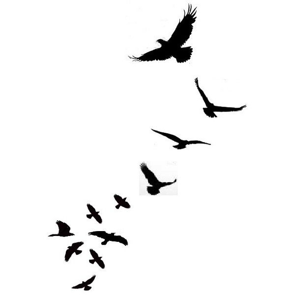 600x600 Am Loving These Little Bird Silhouette Tattoos I Don T Know If It