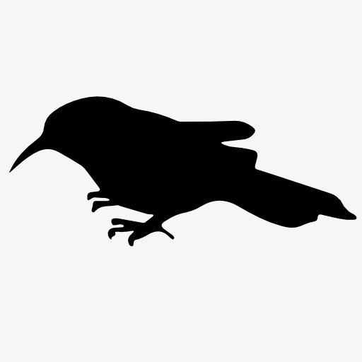512x512 Sparrow Silhouette, Bird, Flight, Animal Png Image And Clipart
