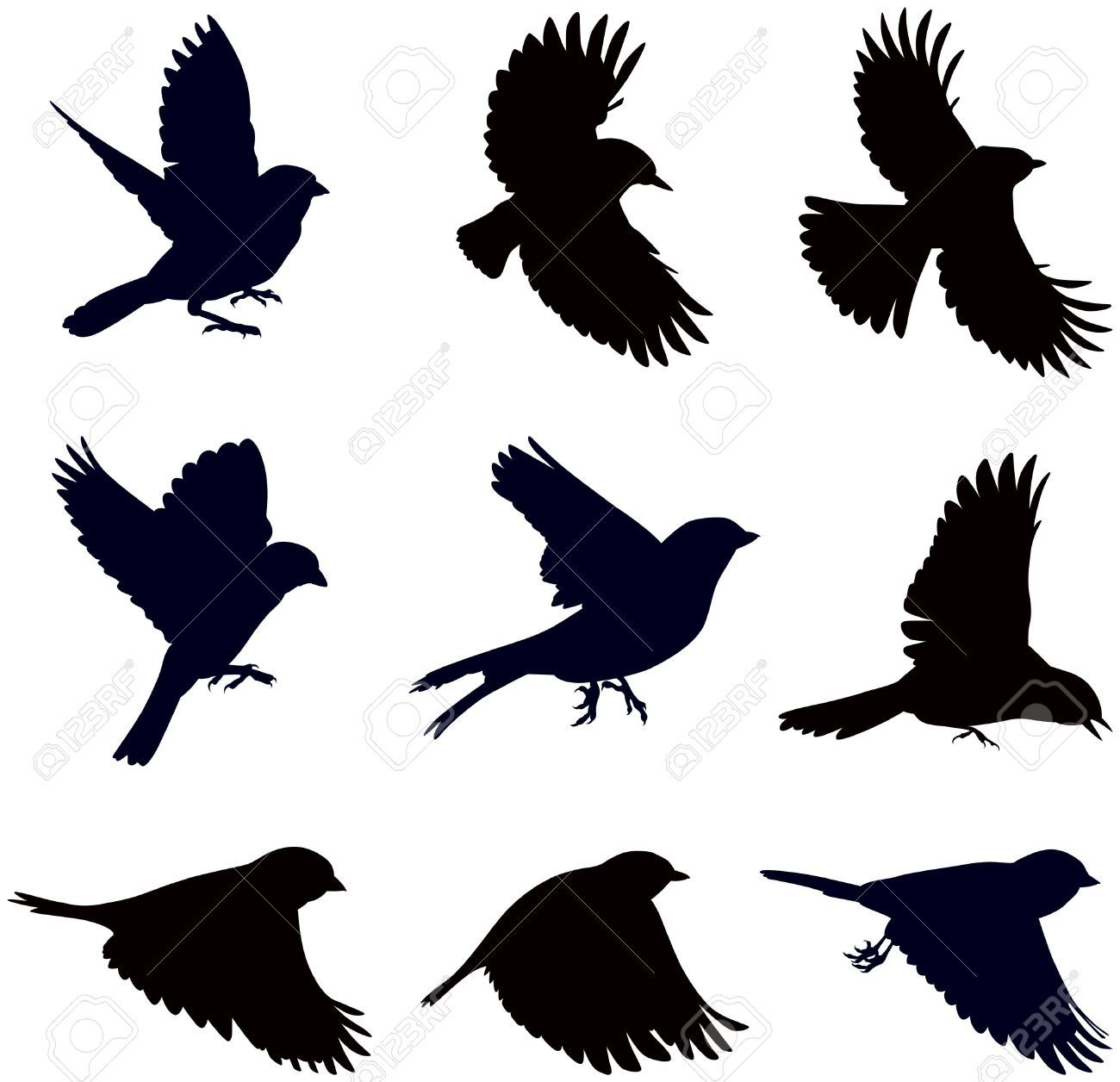 1300x1256 The Middle One Bird Flying Silhouette Clipart