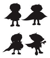 165x190 Superhero Silhouettes Superhero Silhouette, Template And Fonts