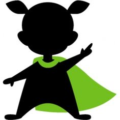 236x236 Superhero Silhouette Of Little Boy With Cape. Links To Knox'S