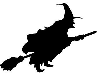 331x252 Flying Witch Wall Graphic Halloween Decor Flying
