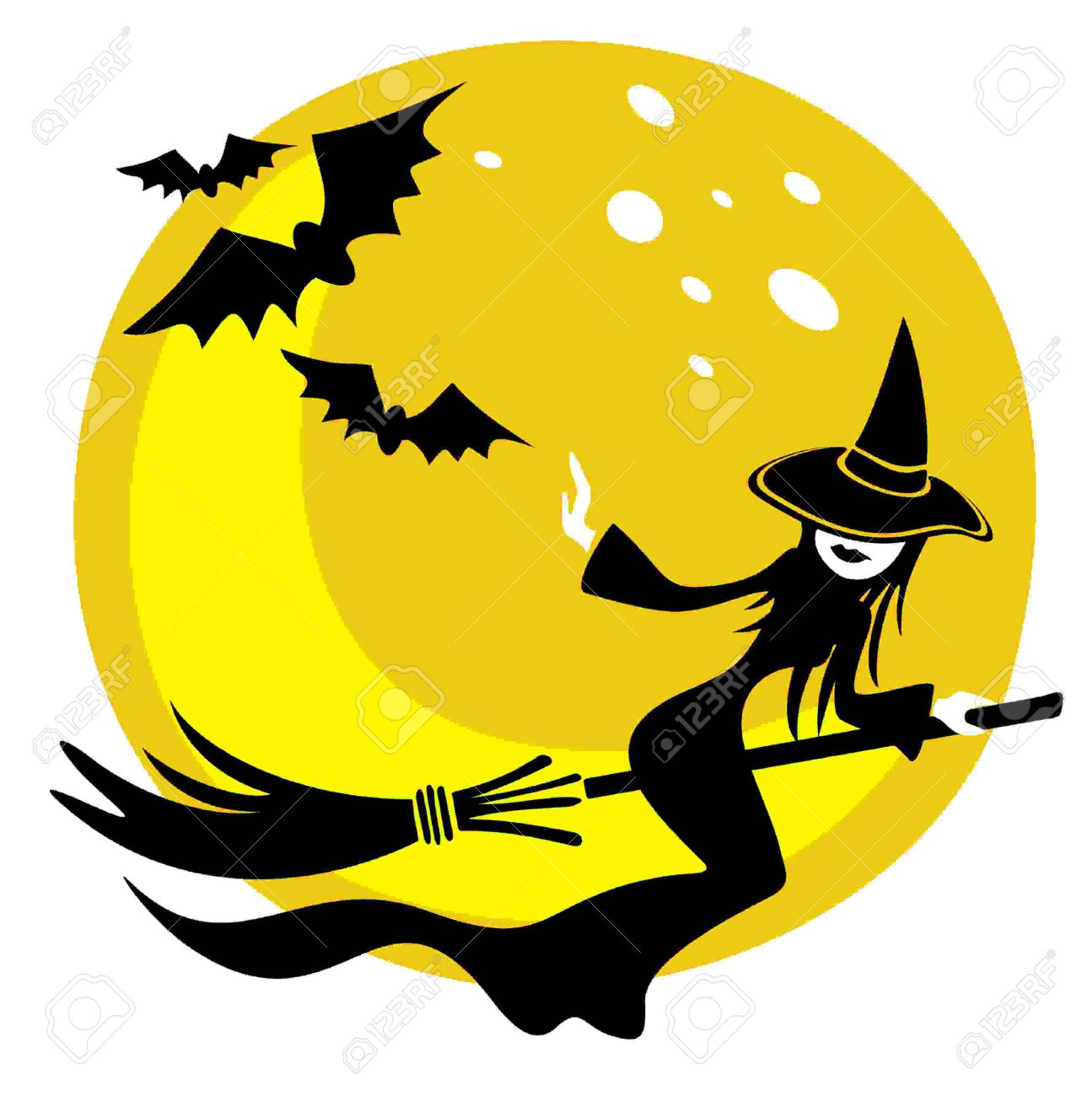 1295x1300 Halloween Flying Witch Clipart
