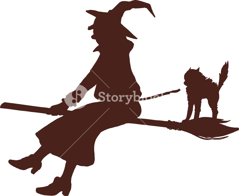1000x819 Vector Flying Witch Royalty Free Stock Image
