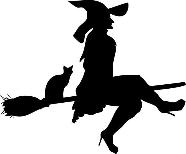 650x537 Halloween Stencils Flying Witch 01 Halloween Stencils