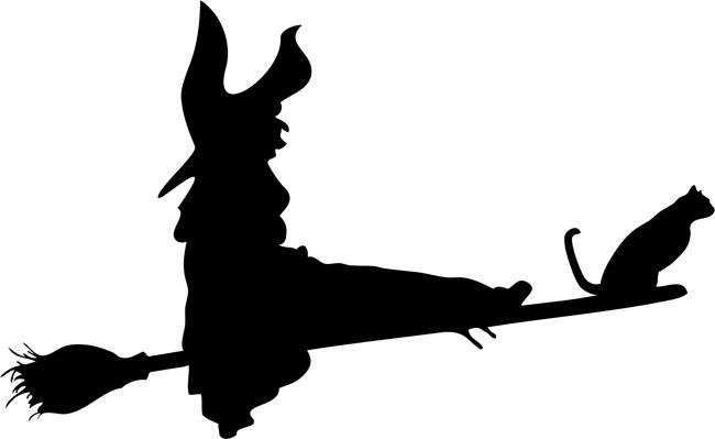 650x399 Flying Witch 02 Halloween Stencils