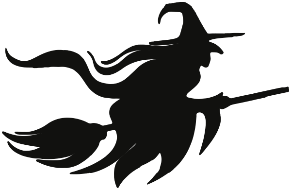 Flying Witch Silhouette Template at GetDrawings.com | Free for ...