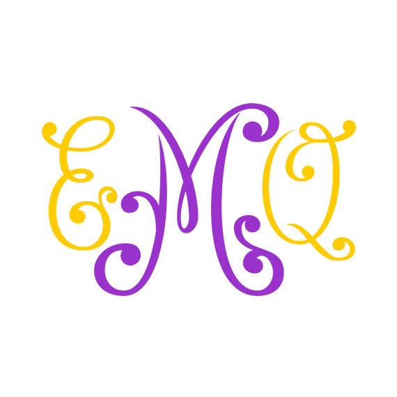 570x570 Monogram Font Svg , Cricut Fonts, Silhouette Cameo Font