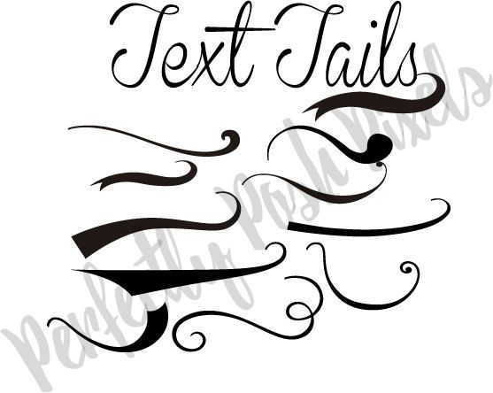 557x444 Text Tails Text Swoosh Svg Eps Pdf Instant Download Silhouette