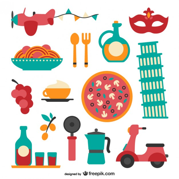 626x626 Italian Food And Elements Collection Vector Free Download