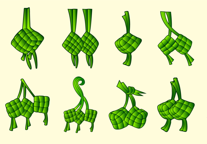 700x490 Ketupat Traditional Food Vector Pack