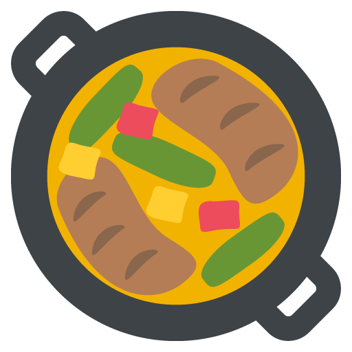 512x512 Shallow Pan Of Food Emoji Vector Icon Free Download Vector Logos