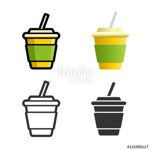 500x500 Cola Carbonated Soft Drink Vector Cartoon, Colored, Contour
