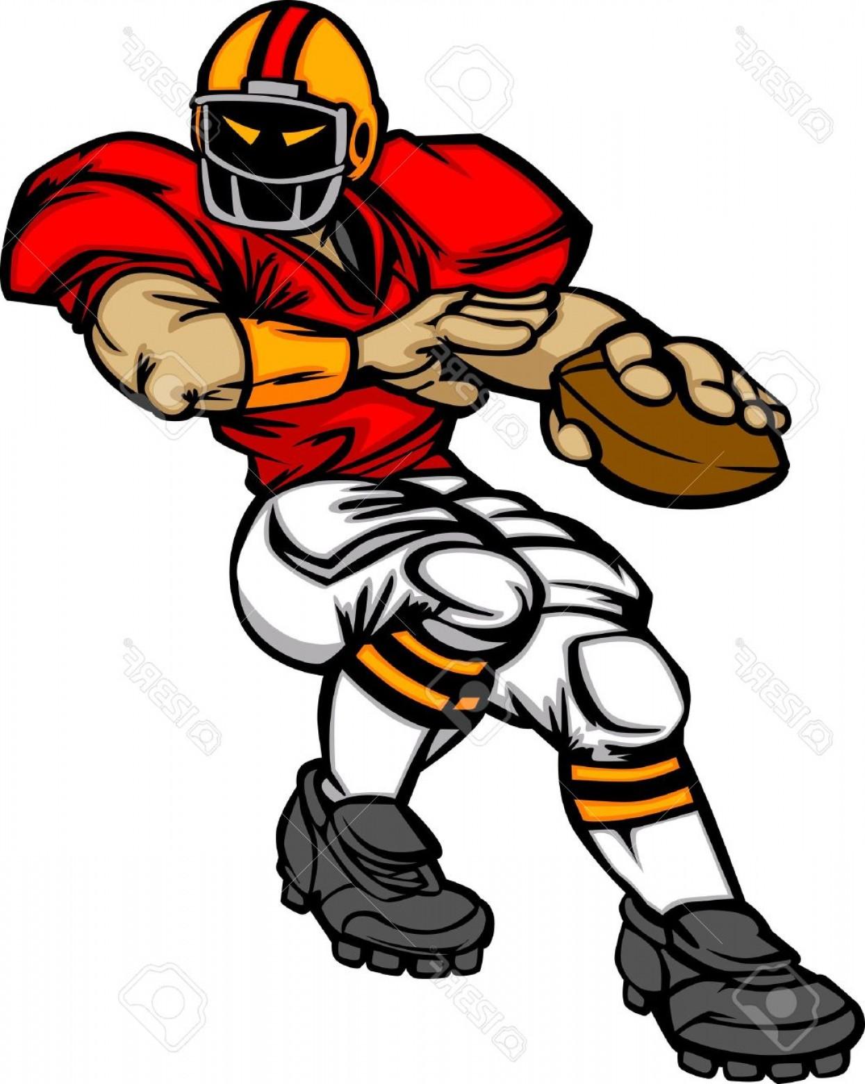 1245x1560 Photocartoon Vector Silhouette Of A Cartoon Football Player