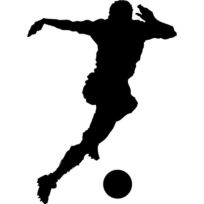 660x660 Soccer Player Silhouette Vector