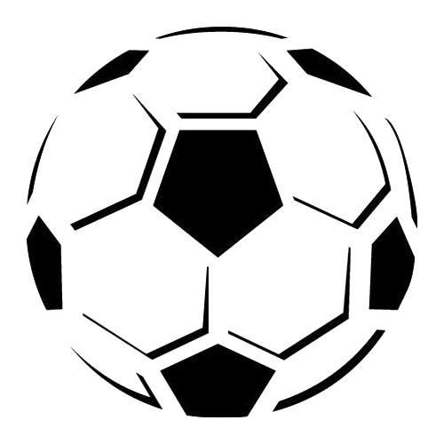 500x500 Soccer Ball Die Cut Vinyl Decal Pv718 Silhouette