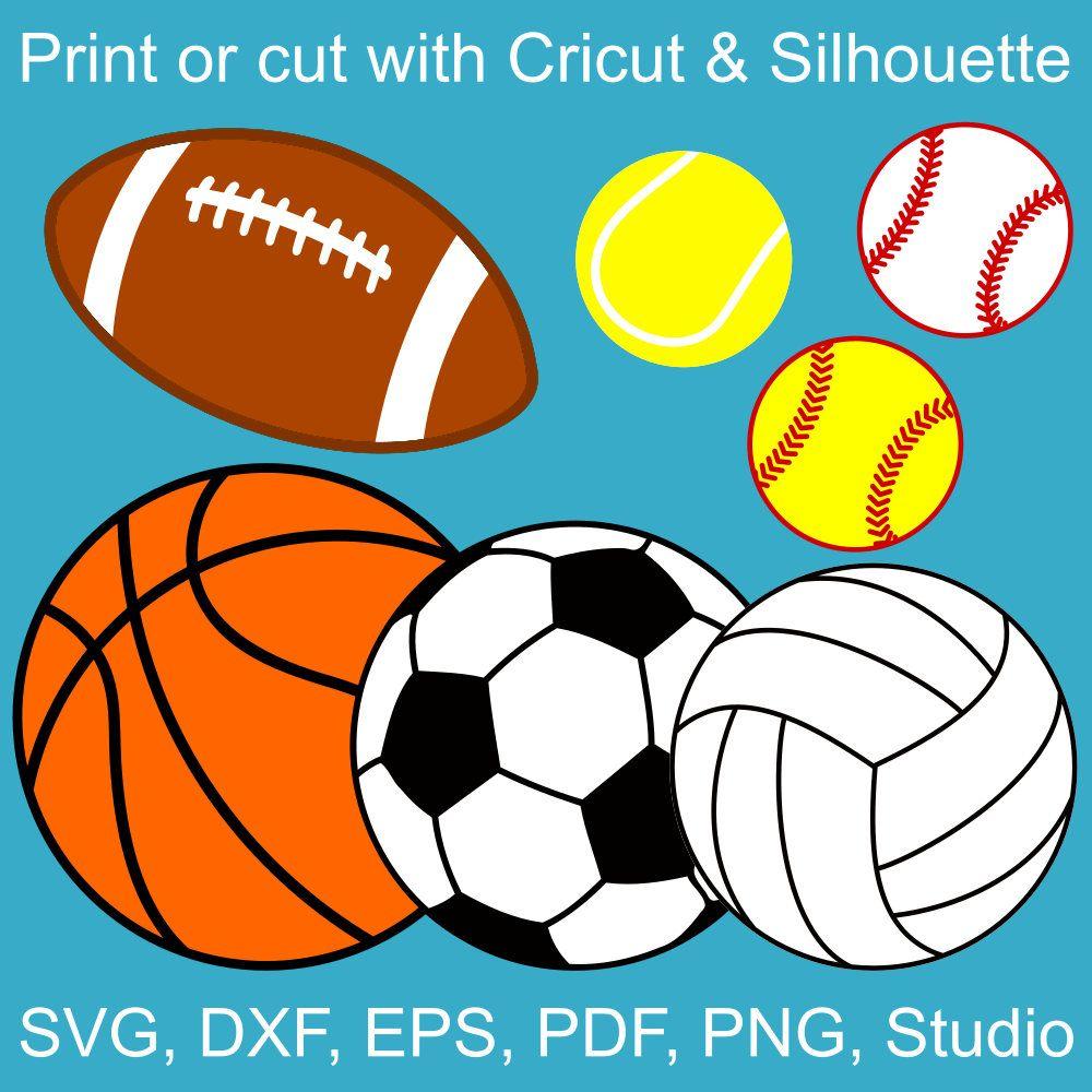 1000x1000 Sports Balls Svg Bundle, Basketball, Volleyball, Football, Soccer