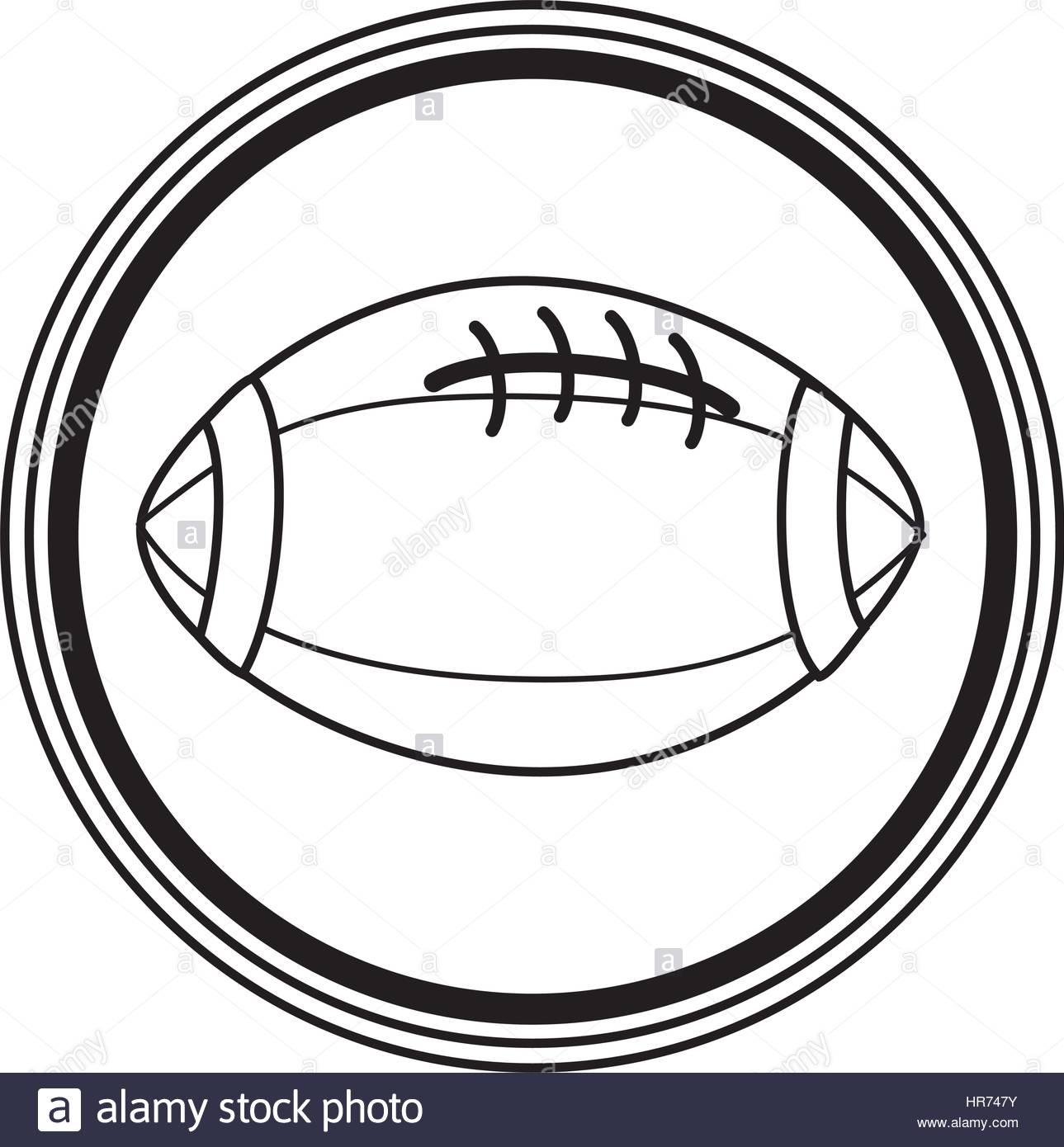 1289x1390 Silhouette Circular Border With Football Ball Icon Stock Vector