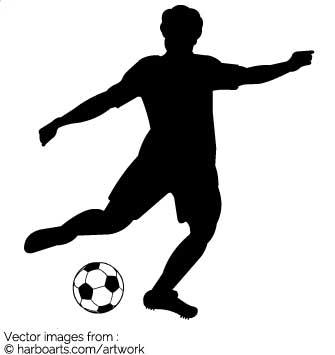 335x355 Download Kicking Soccer Ball