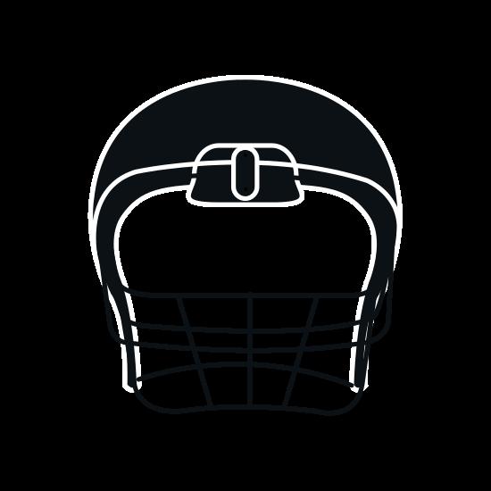 550x550 American Football Helmet Silhouette