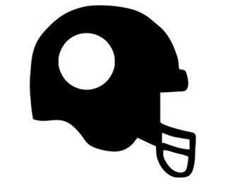 340x270 Football Helmet Monogram Frame Svg Dxf File Instant Download