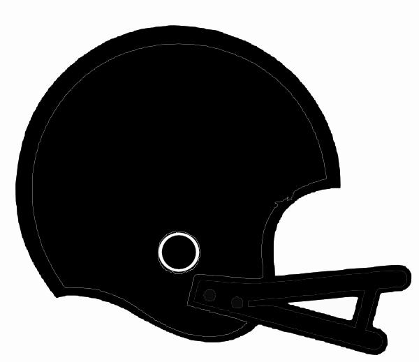 600x519 Black Football Helmet Clip Art