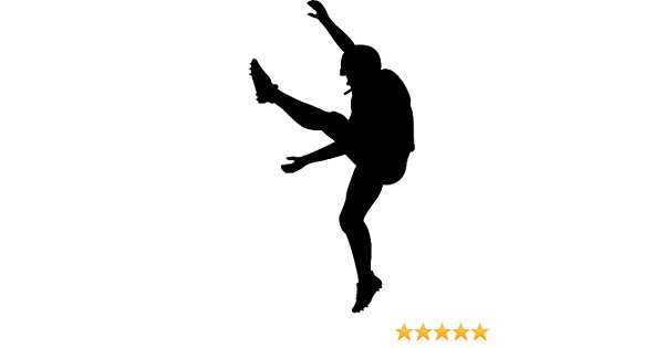 Football Kicker Silhouette