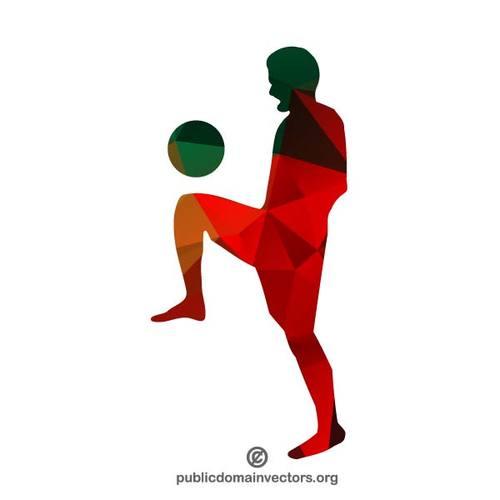 500x500 Footballer Silhouette Public Domain Vectors