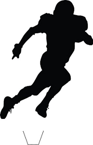 320x500 Novelty American Football Player Silhouette 12 Edible Stand Up