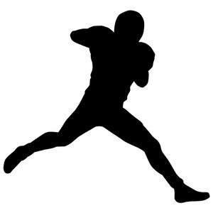 300x300 Football Player Silhouette 02 Stencil By Crafty Stencil Crafty