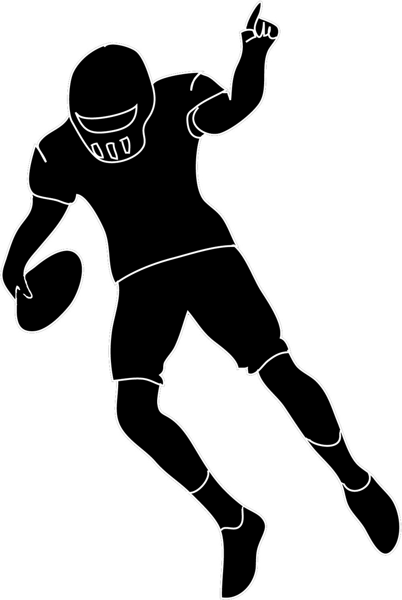 793x1181 Football Player Silhouette Clipart Cliparting Com Within