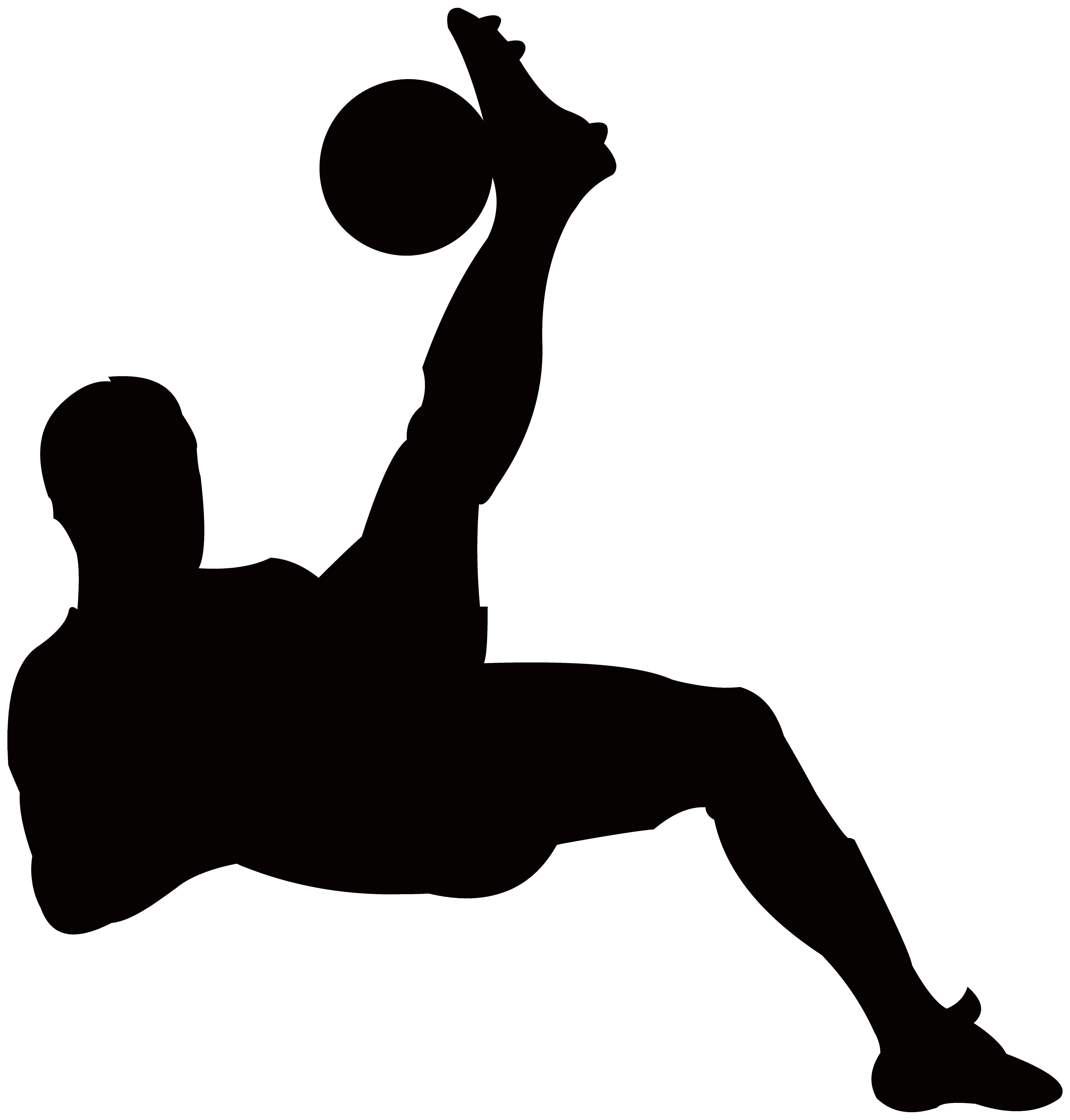 7645x8000 Football Player Silhouette Transparent Png Clip Art Image Gallery