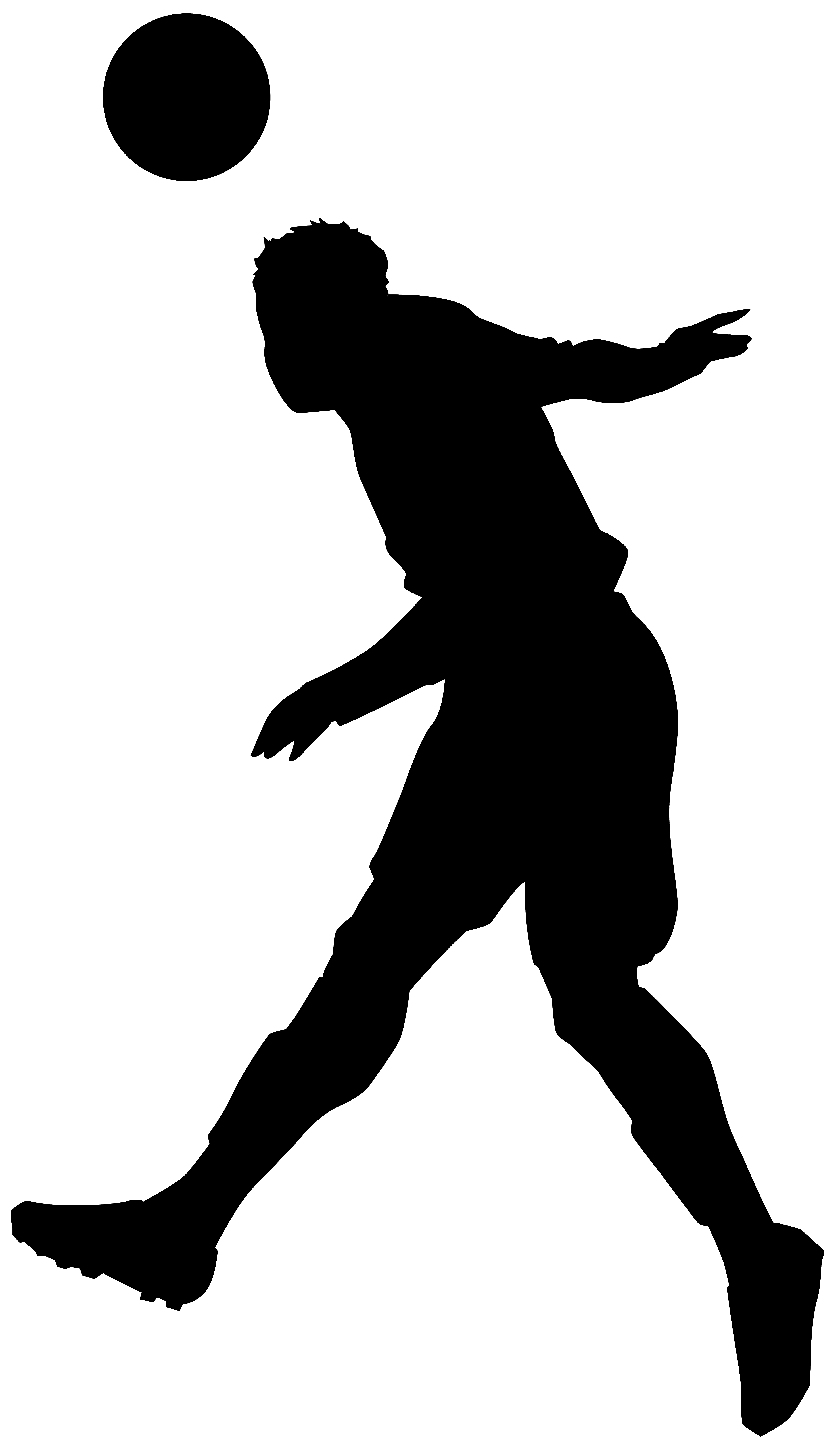 4638x8000 Footballer Silhouette Png Clip Art Imageu200b Gallery Yopriceville