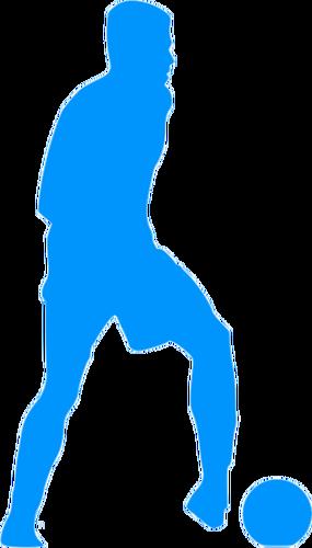 285x500 Football Player Blue Silhouette Clip Art Public Domain Vectors