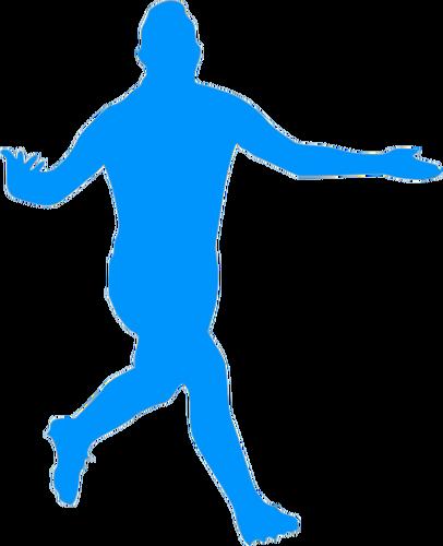 406x500 Football Player Celebrating A Goal Public Domain Vectors