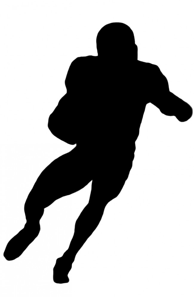 650x993 Football Player Clipart 2 Football Player Clip Art Black Image