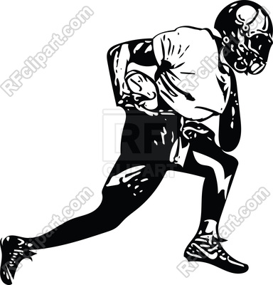 384x400 Abstract Illustration Of American Football Player Royalty Free