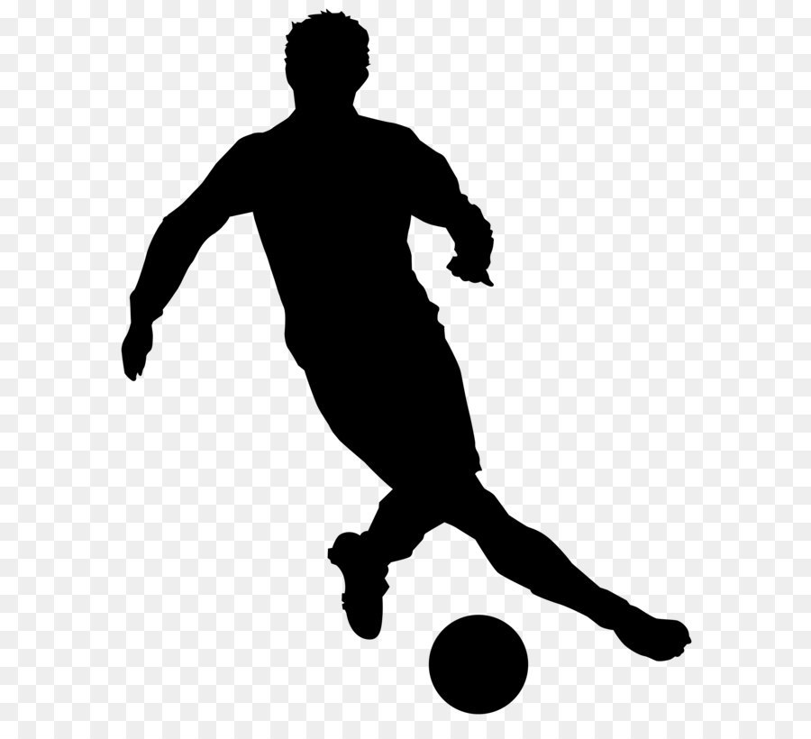 900x820 Black And White Recreation Football Player Silhouette