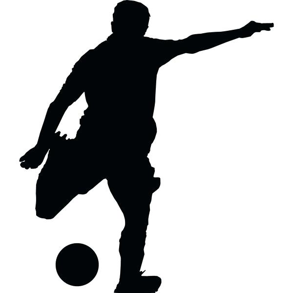 600x600 Football Silhouette Wall Decal Also Soccer Wall Decal Sticker