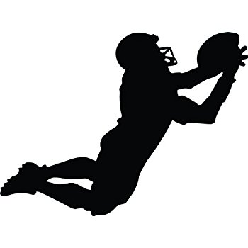 350x350 Football Silhouette Wall Decal By Wallmonkeys Peel