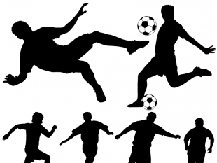 310x233 Soccer Vector Silhouettes Free Vectors Ui Download