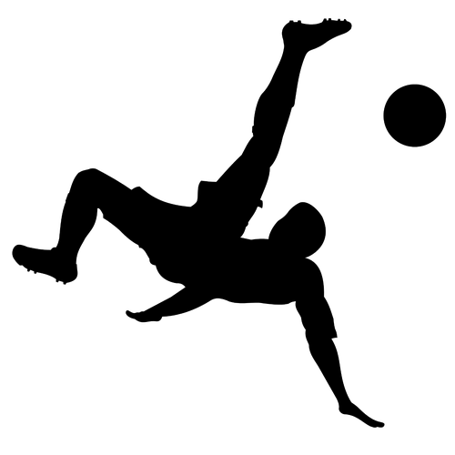 500x500 Man Playing Football Silhouette Vector Image Public Domain Vectors