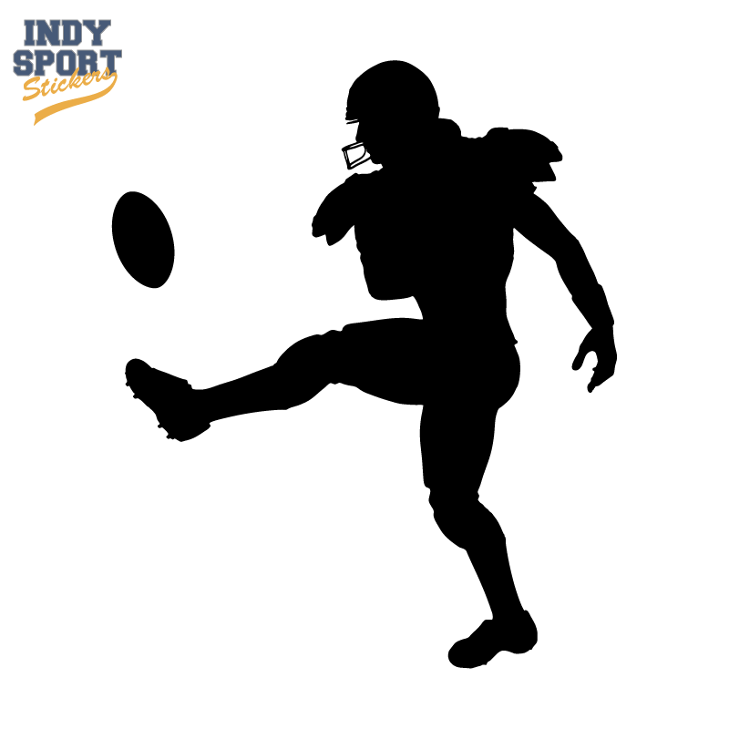 800x800 Football Player Punting Silhouette
