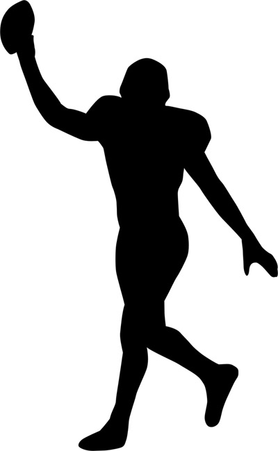400x650 Football Player Silhouette Stencils