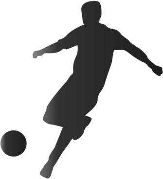 335x368 Football Silhouette Vector Free Vector Download (5,872 Free Vector