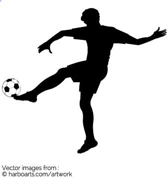 335x355 Download Soccer Player Kicking Football