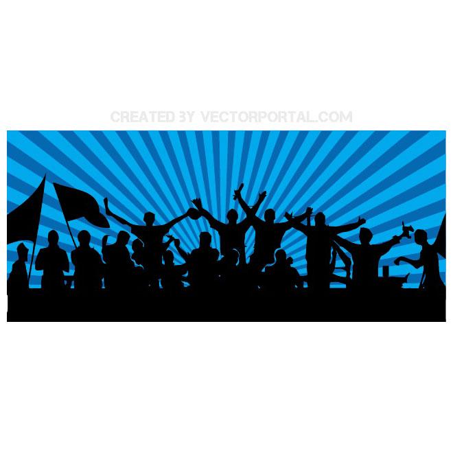 660x660 Football Fans Vector Banner