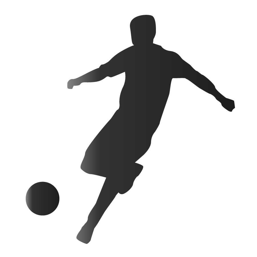 900x900 Footballer Silhouette Free Vector 123freevectors Striking Football