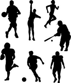 236x274 Football Player Silouttes Football Player Silhouette Football